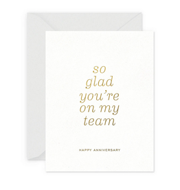 Smitten on Paper Team Anniversary Greeting Card