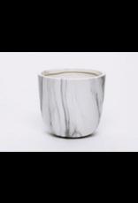 """Marble Pot White 5"""" x 4.5"""""""
