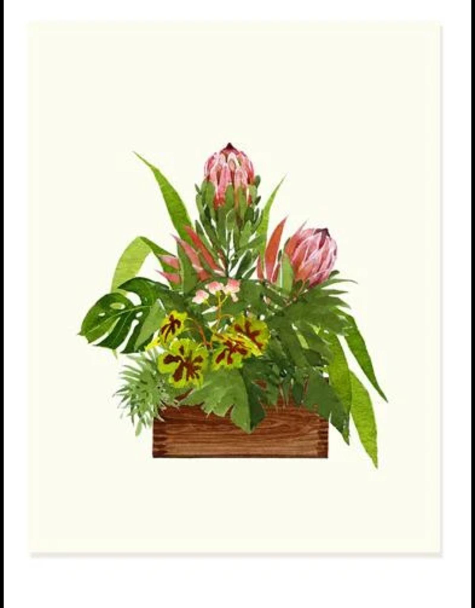 Felix Doolittle Plum Bouquets Notecard Set