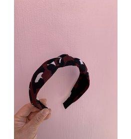 Knot Headband in Mod Maroon