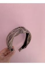Knot Headband in Faux Snakeskin