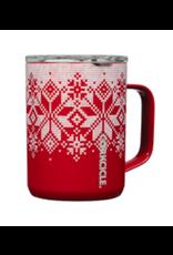 Corkcicle Coffee Mug 16oz Fairisle Red