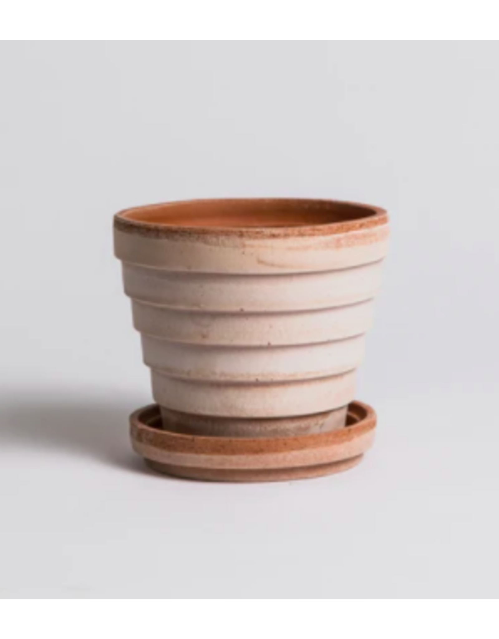 Bergs Potter Planet Pots in Rose + Saucer by Bergs Potter