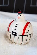 "Snowfriends Figurine with Suspenders 3"" x 4"""
