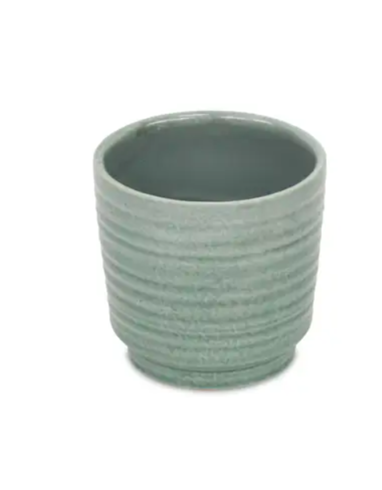 """Cheungs Ripple Pot in Green 4.5"""" x 4.25"""""""