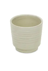 """Cheungs Ripple Pot in Off White 4.5"""" x 4.25"""""""