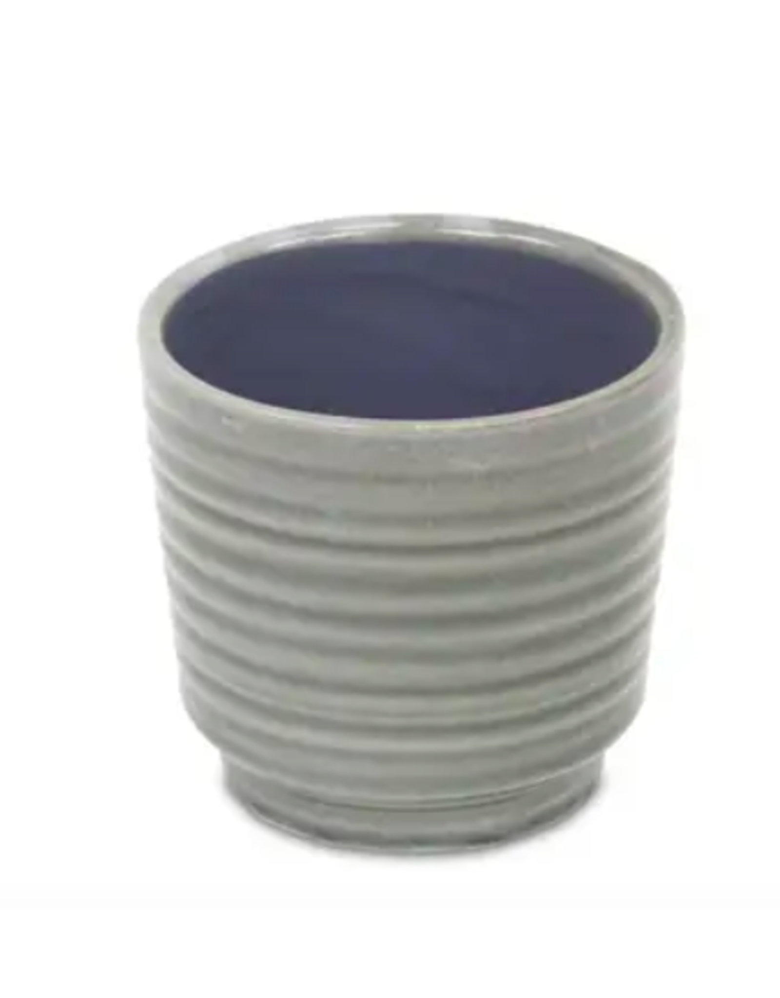 "Cheungs Ripple Pot in Gray 4.5"" x 4.25"""