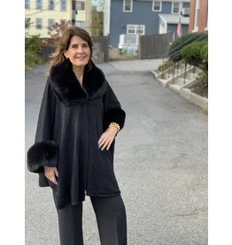 Fur Cape in Black