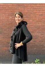 Thin Fur Vest in Black