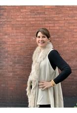 Thin Fur Vest in Beige