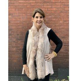 Thin Fur Vest in Pink