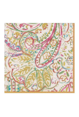 Caspari Painted Paisley in Gold Dust Cocktail Napkin