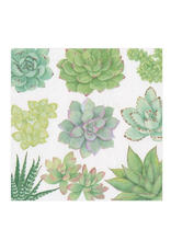 Caspari Succulents Cocktail Napkin