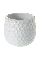 "Ginny Pot White 3.25"" x 3"""
