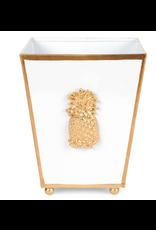 "Jayes Studio Pineapple Cachepot White 6"""