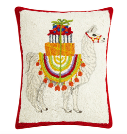Peking Handicraft Holiday Llama Pillow