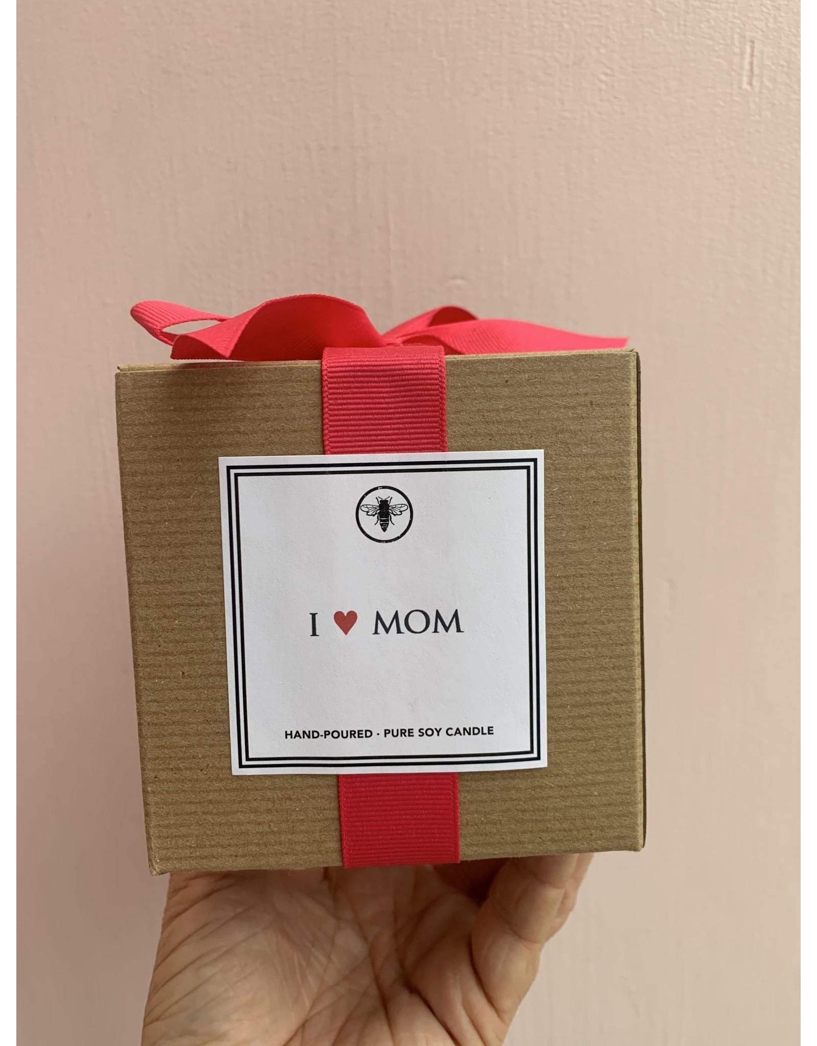 Ella B I Heart Mom Candle