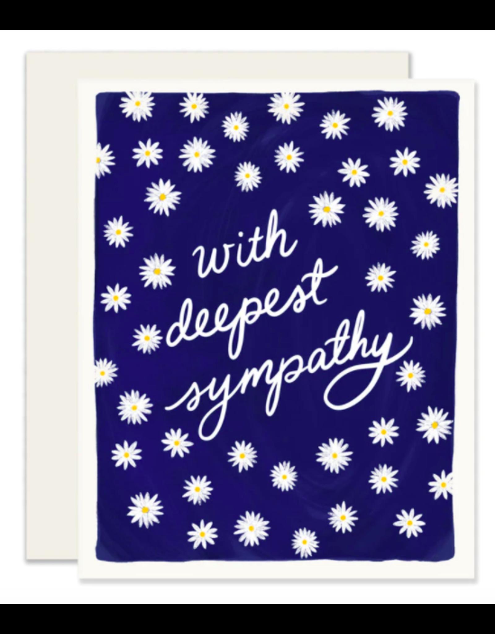 Slightly Stationery Sympathy Daisies Card