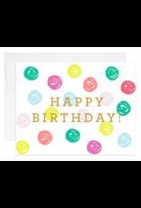 9th Letterpress Happy Birthday Dots Card