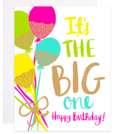 9th Letterpress Glitter Balloons Card