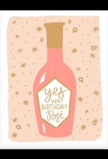 9th Letterpress Birthday Rose Card