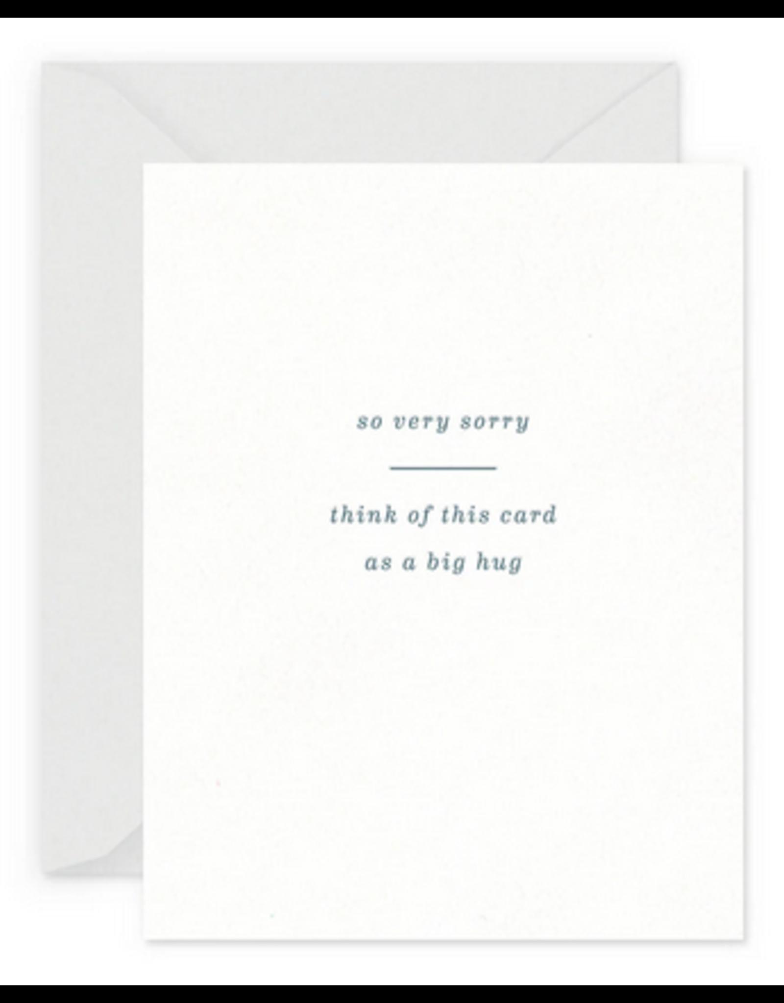 Smitten on Paper Big Hug Sympathy Greeting Card