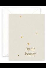 Smitten on Paper Sip Sip Hooray Greeting Card