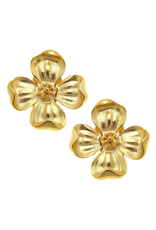 Susan Shaw Dogwood Flower Stud Earrings by Susan Shaw