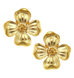 Susan Shaw Dogwood Flower Stud Earrings by Susan Shaw