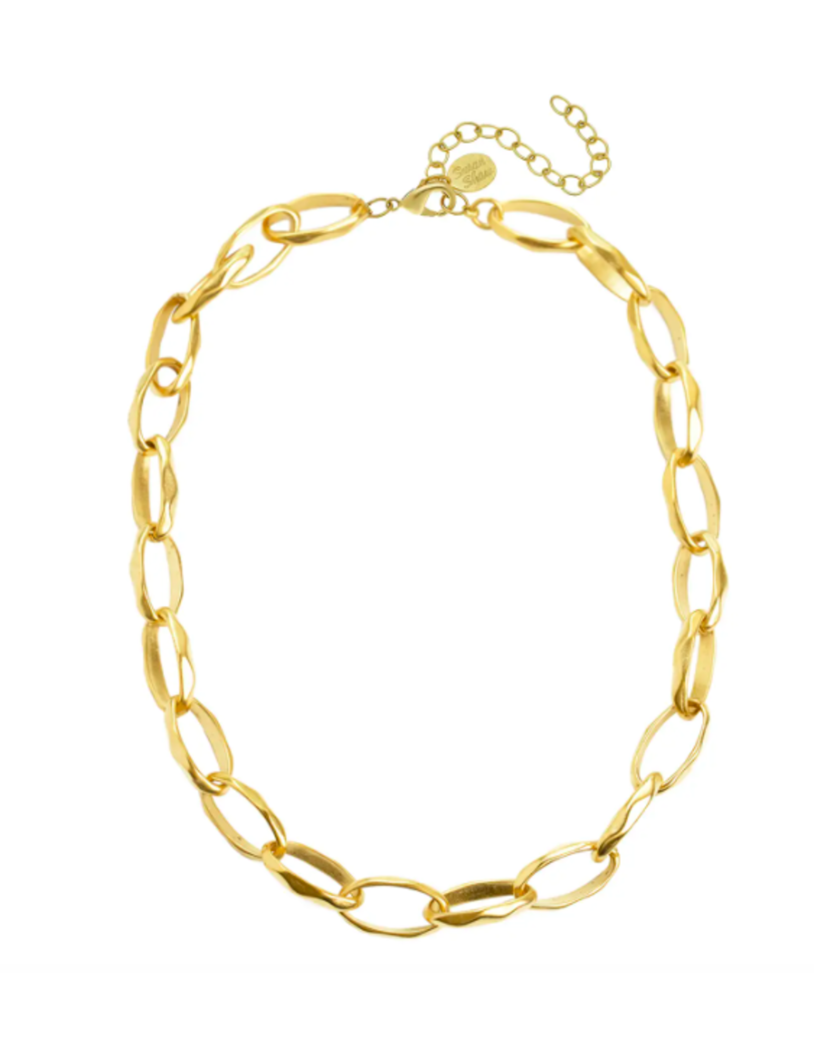 Susan Shaw Gold Oblong Chain Necklace by Susan Shaw