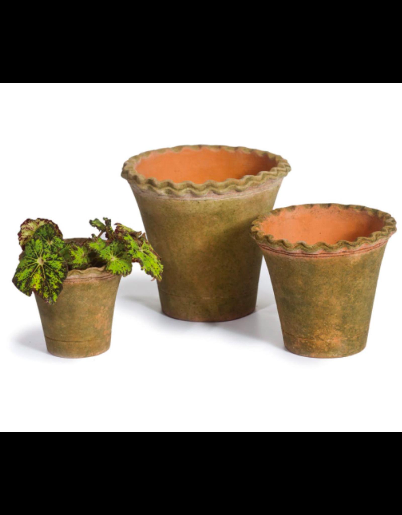 """Campo De' Fiori Pie Crust Nursery Planter + Saucer in 8"""" x 7"""" by Campo De' Fiori"""