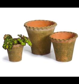 """Campo De' Fiori Pie Crust Nursery Planter + Saucer in 6"""" x 5.5"""" by Campo De' Fiori"""