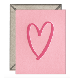 Brushed Heart Card