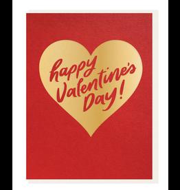 Dahlia Press Valentine's Gold Card