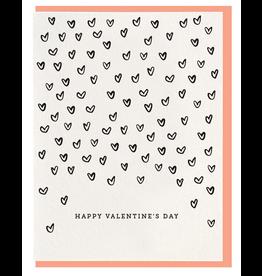 Dahlia Press Valentine's Hearts Card