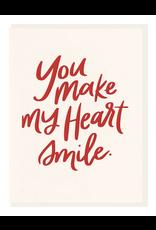 Dahlia Press Heart Smile Card