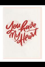 Dahlia Press You Have My Heart Card