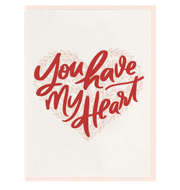 Dahlia Press You Have My Heart Card