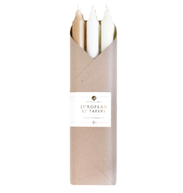 Northern Lights Taper Candle 6 Pack in Linen Closet