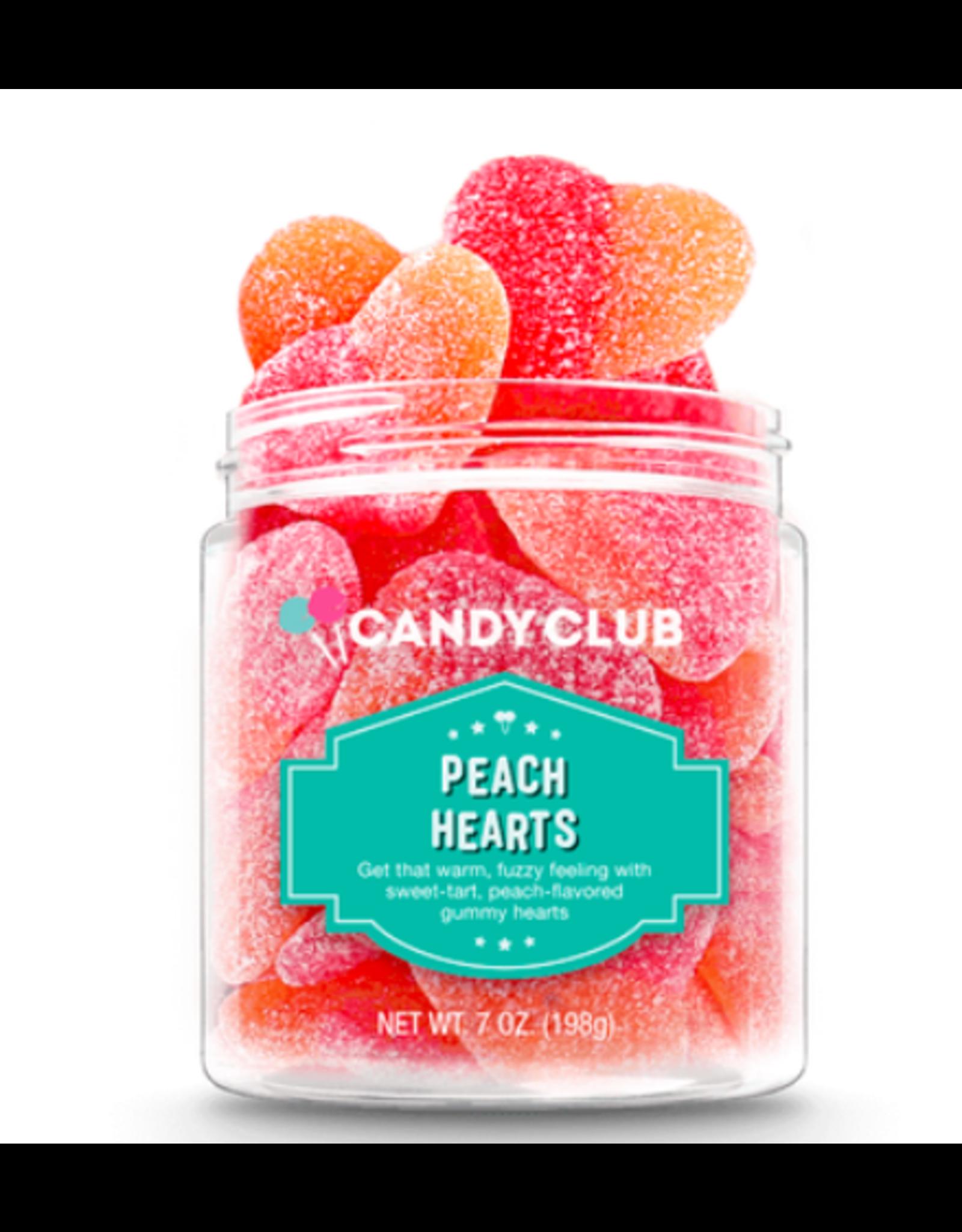 Candy Club Peach Hearts Candy Jar