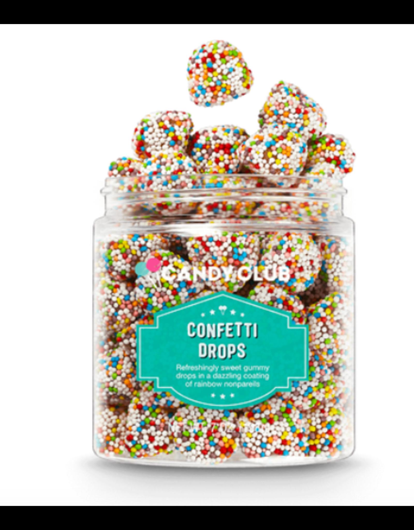 Candy Club Confetti Drops Candy Jar