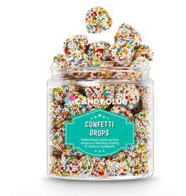 Candy Club Confetti Drops Candy Jar
