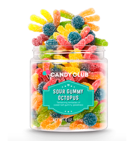 Candy Club Sour Gummy Octopus Candy Jar