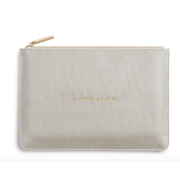 Katie Loxton Champagne Please Perfect Pouch in Champagne Shimmer