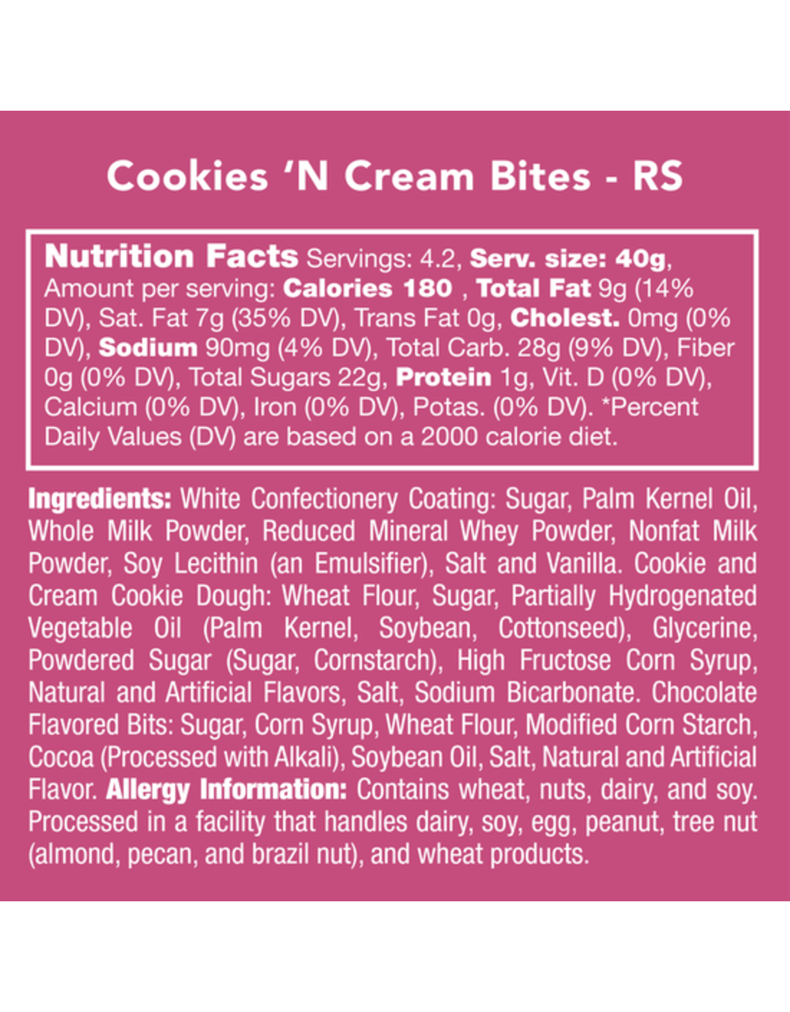 Candy Club Cookies & Cream Bites Candy Jar