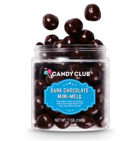 Candy Club Dark Chocolate Mini Melts Candy Jar
