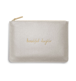 Katie Loxton Beautiful Daughter Perfect Pouch in Champagne Shimmer