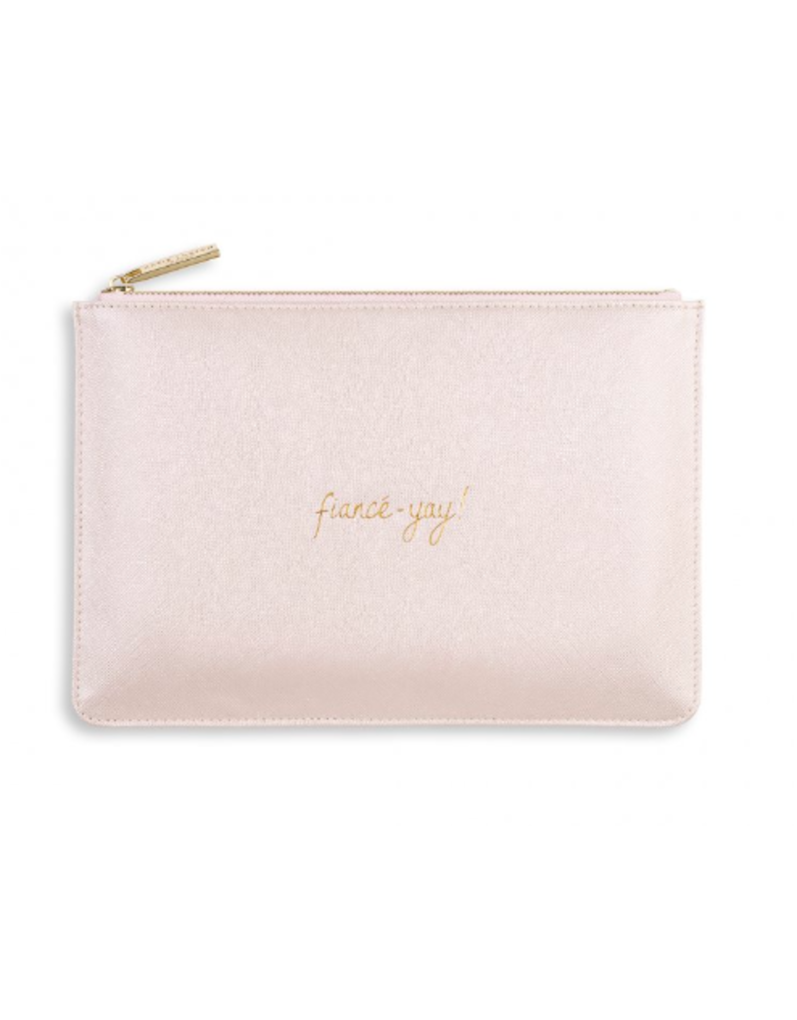 Katie Loxton Fiance-Yay Perfect Pouch in Metallic White