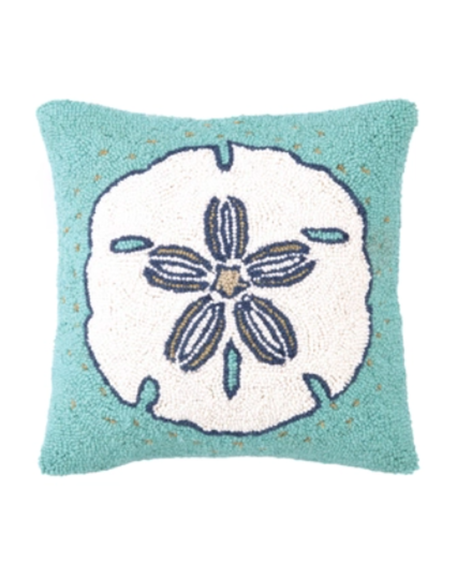 Peking Handicraft Sand Dollar Hooked Pillow