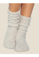 Barefoot Dreams CozyChic Heathered Socks in Stone